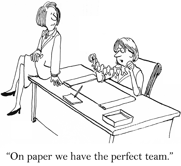 sales management cartoon